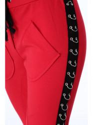 Dámske červené nohavice 62935