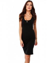 Dámske čierne bavlnené šaty 4352