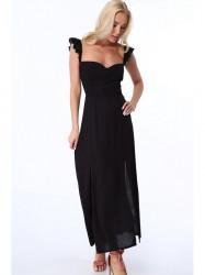 Dámske dlhé šaty ZZ337 čierne