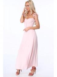 Dámske dlhé šaty ZZ337, ružové