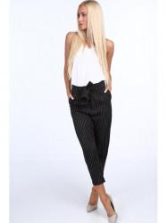 Dámske elegantné nohavice 22367, čierne