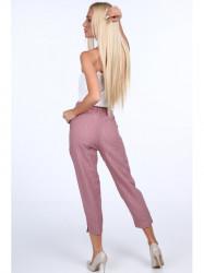 Dámske elegantné nohavice 22367, ružové