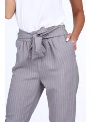Dámske elegantné nohavice 22367, sivé