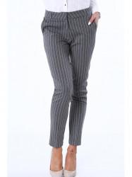 Dámske elegantné nohavice MP44427, tmavo sivé