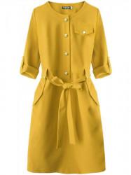 Dámske elegantné šaty 273ART, horčicové
