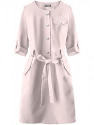 Dámske elegantné šaty 273ART, púdrovo ružové