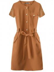 Dámske elegantné šaty 309ART, hnedé