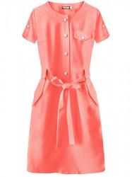 Dámske elegantné šaty 309ART, koralové