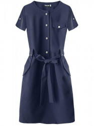 Dámske elegantné šaty 309ART, tmavomodré