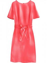 Dámske elegantné šaty 313ART, neónovo koralové