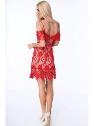 996836211d30 Dámske koktejlové šaty s čipkou ZZ313