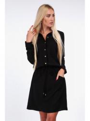 Dámske košeľové šaty 1909, čierne