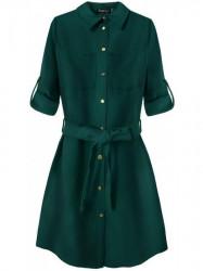 Dámske košeľové šaty 204/1ART zelené