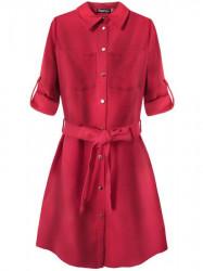 Dámske košeľové šaty 204ART, červené