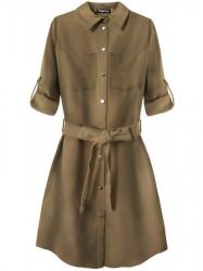Dámske košeľové šaty 204ART, hnedé