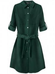 Dámske košeľové šaty 204ART, zelené