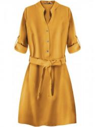 Dámske košeľové šaty 207ART, horčicové