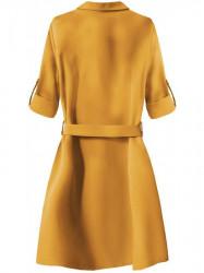 Dámske košeľové šaty 207ART, horčicové #1