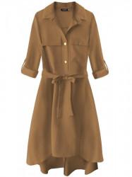 Dámske košeľové šaty 267ART, hnedé
