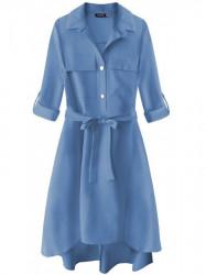 Dámske košeľové šaty 267ART, modré