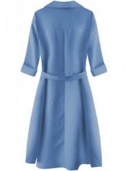 Dámske košeľové šaty 267ART, modré #1