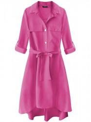 Dámske košeľové šaty 267ART, ružové