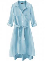 Dámske košeľové šaty 267ART, svetlo modré