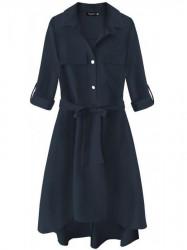 Dámske košeľové šaty 267ART, tmavo modré