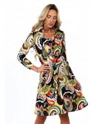 Dámske košeľové šaty so vzorom 2219, farebné/khaki