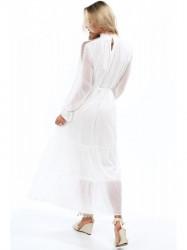 Dámske krémové šaty 4186 #1