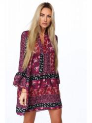 Dámske kvetinové šaty 3807, fialové
