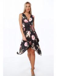 Dámske letné asymetrické šaty 0279, čierne #1
