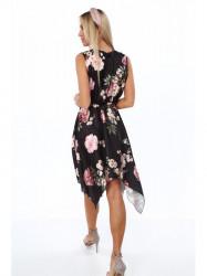 Dámske letné asymetrické šaty 0279, čierne #2