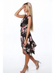 Dámske letné asymetrické šaty 0279, čierne #3