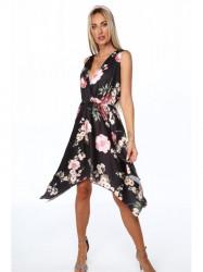Dámske letné asymetrické šaty 0279, čierne #4