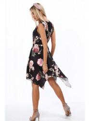Dámske letné asymetrické šaty 0279, čierne #5