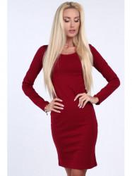 Dámske minimalistické šaty 4054, bordové