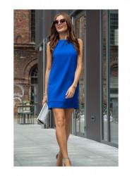 Dámske modré elegantné šaty 0341