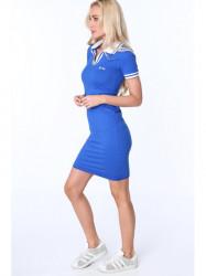 Dámske modré polo šaty 3810