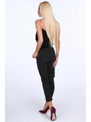 Dámske nohavice s viazaním 22251, čierne #1