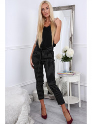 Dámske nohavice s viazaním 22251, čierne #2