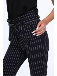 Dámske nohavice s viazaním 22251, modré