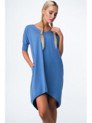 Dámske oversize šaty 3753, indigo