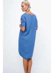 Dámske oversize šaty 3753, indigo #1