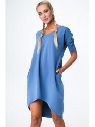Dámske oversize šaty 3753, indigo #2