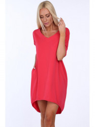 Dámske oversize šaty 3753, korálové