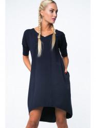 Dámske oversize šaty 3753, tmavo modré