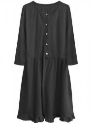 Dámske oversized šaty 305ART, čierne