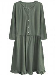 Dámske oversized šaty 305ART, khaki