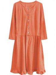 Dámske oversized šaty 305ART, oranžové